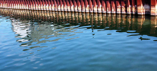 Pier Reflections Poster featuring the photograph Pier Reflections by Joanne Coyle