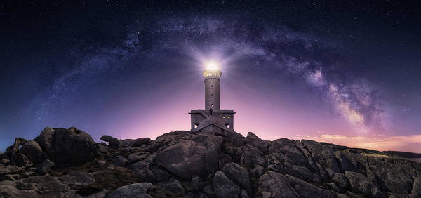 Lighthouse Poster featuring the photograph Night Watcher by Carlos F. Turienzo