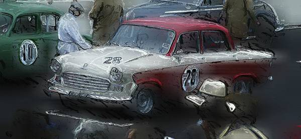 Standard Vanguard Poster featuring the photograph 1959 Standard Vanguard Phase IIi by John Colley
