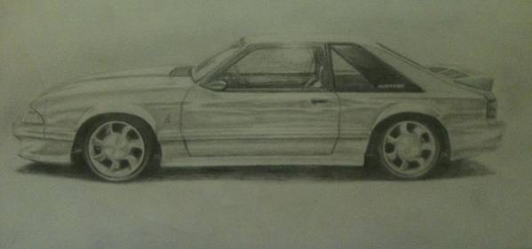 Pencil Poster featuring the photograph 93 Cobra by Frankie Thorpe