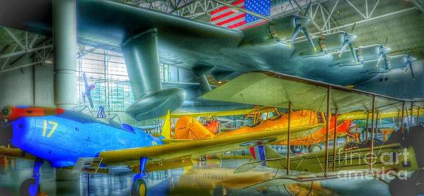 Vintage Airplanes Poster featuring the photograph Vintage Airplanes by Susan Garren
