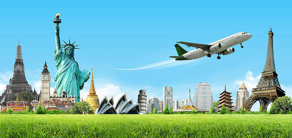 Ancient Poster featuring the digital art Background Travel Concept by Potowizard Thailand