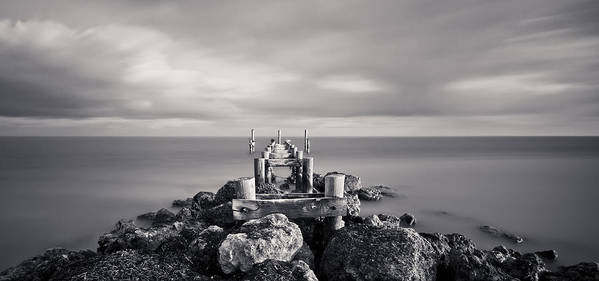 3scape Photos Poster featuring the photograph Abandoned Pier by Adam Romanowicz