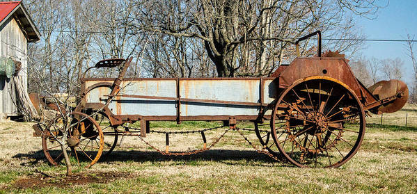 Hay Poster featuring the photograph Antique Hay Bailer 2 by Douglas Barnett