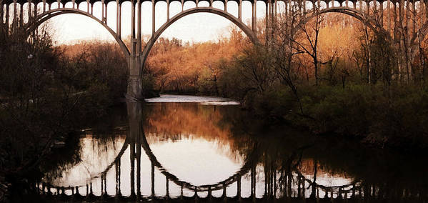 River Poster featuring the photograph Bridge Over The River Cuyahoga by Patricia Januszkiewicz