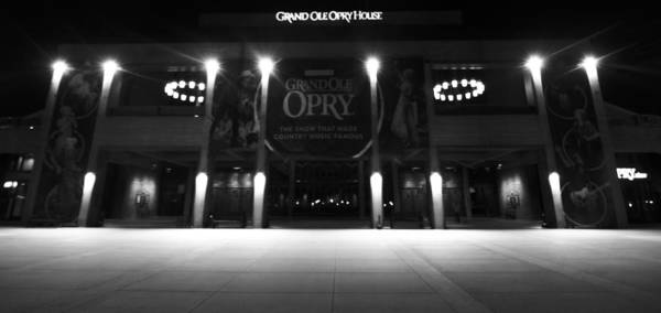 Grand Ole Opry House Poster featuring the photograph Grand Ole Opry At Night by Dan Sproul