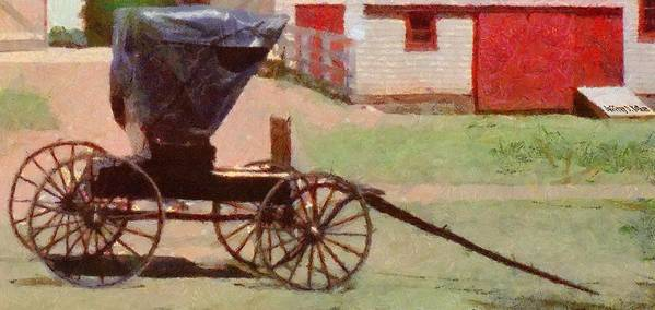 Canadian Poster featuring the painting Horseless Carriage by Jeff Kolker