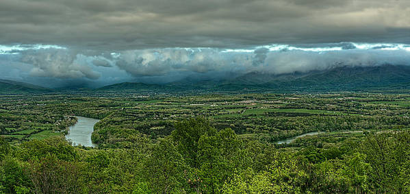 Shenandoah Valley Spring Poster featuring the photograph Shenandoah Green Valley by Lara Ellis