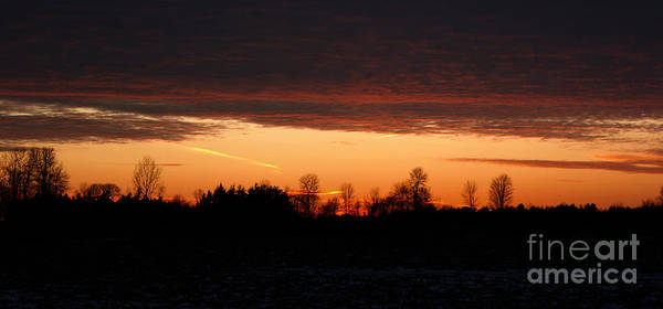 Silhouette Poster featuring the photograph Sunset Warmth by Wendy Jackson
