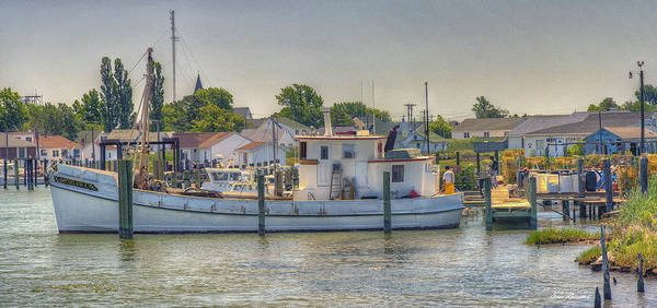Tangier Island Poster featuring the photograph Tangier Island Docks by Glenn Gemmell