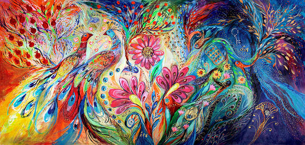 Judaica Poster featuring the painting The Colors Of Day by Elena Kotliarker
