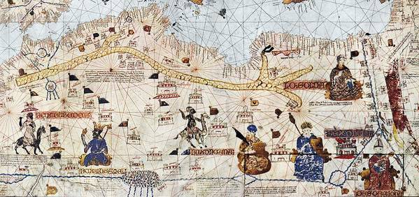 15th Century Poster featuring the photograph Trans-saharan Caravan Routes 1413 by Sheila Terry