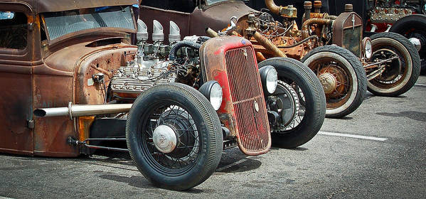 Hot Rods Poster featuring the photograph Hot Rods by Steve McKinzie