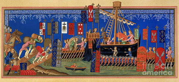 14th Century Poster featuring the painting Crusades 14th Century by Granger