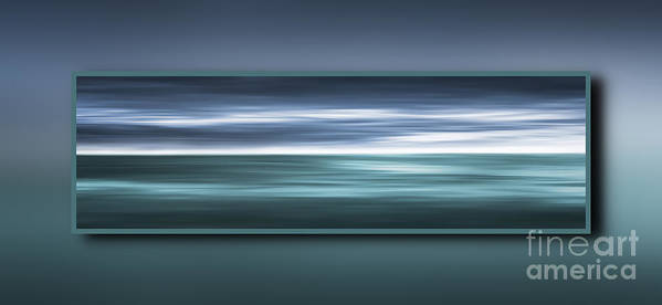 Clean Poster featuring the digital art Framed Ocean by Jan Brons