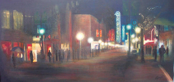 Downtown Poster featuring the painting Glow by Victoria Heryet