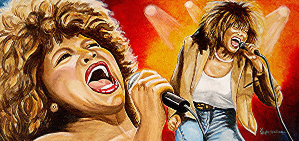 Tina Turner Poster featuring the painting Simply The Best by Al Molina