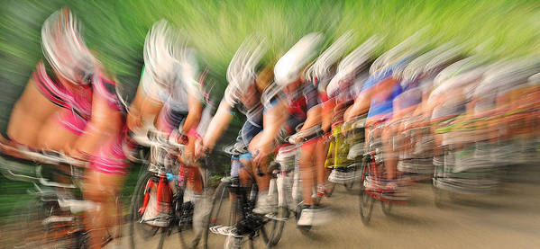 Cycling Poster featuring the photograph Speedwaves by Lou Urlings