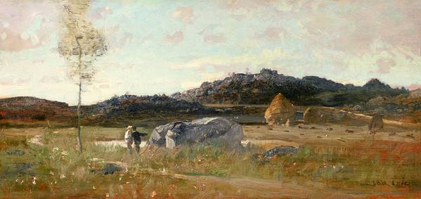 Summer Poster featuring the painting Summer Landscape by Luigi Loir