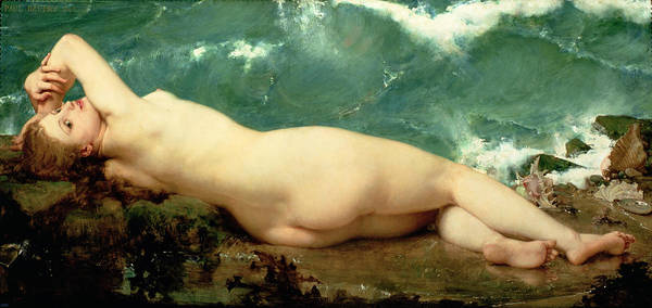Nude Poster featuring the painting The Pearl And The Wave by Paul Baudry