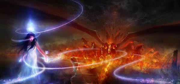 Philip Straub Poster featuring the painting Utherworlds Waking Dream by Philip Straub