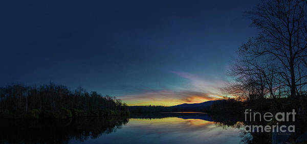 Blue Ridge Parkway Poster featuring the photograph Blue Ridge Parkway Mountain Lake Sunset 789g by Ricardos Creations