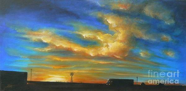 Acrylics Poster featuring the painting On Route 66 To Amarillo by Artist ForYou