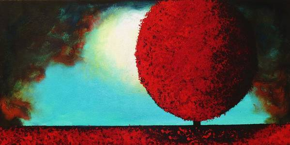 Red Tree Poster featuring the painting After The Storm II by Barbie Baughman