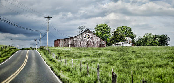 Barn Poster featuring the photograph A Quilted Barn by Heather Applegate