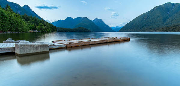 Beautiful Poster featuring the photograph Alouette Lake Dock by James Wheeler