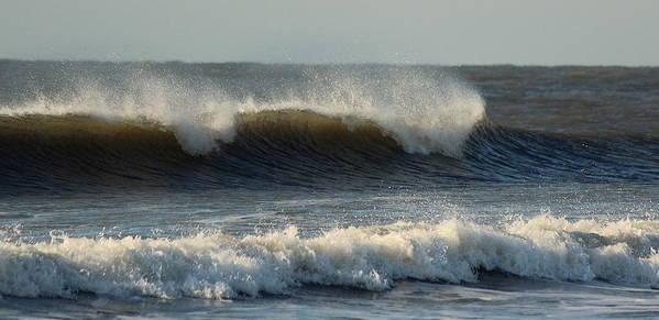 Ocean Poster featuring the photograph Atlantic Ocean Wave by Rosanne Jordan