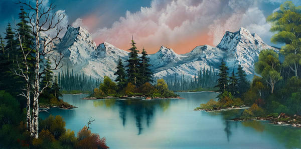 Landscape Poster featuring the painting Autumn's Glow by Chris Steele