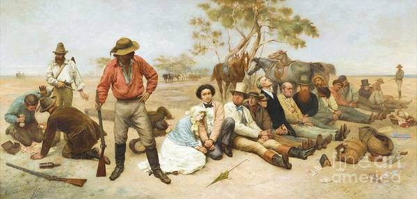Pd Poster featuring the painting Bushrangers by Pg Reproductions