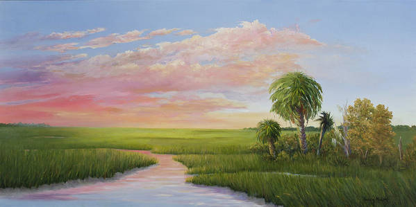 Coastal Sunset Poster featuring the painting Carolina Classic by Audrey McLeod