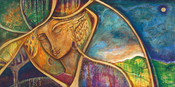 Divine Wisdom Poster featuring the painting Divine Wisdom by Shiloh Sophia McCloud