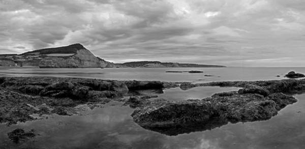 Ladram Bay Poster featuring the photograph Ladram Bay And Sidmouth by Pete Hemington