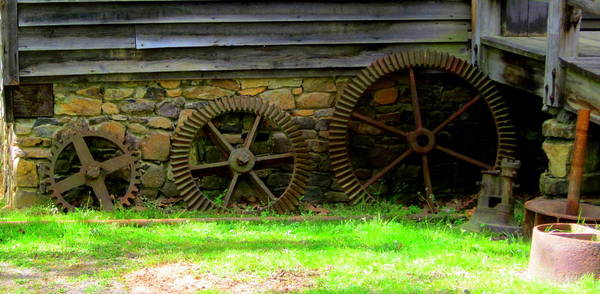 Gears Poster featuring the photograph Mill Gears by Peter LaPlaca
