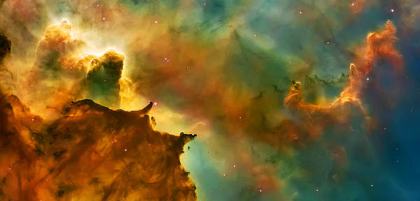 Nasa Images Poster featuring the photograph Nebula Cloud by Jennifer Rondinelli Reilly - Fine Art Photography