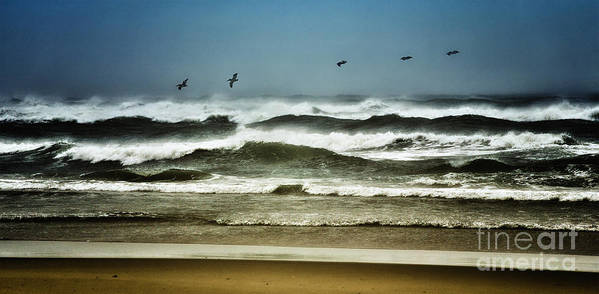 North Carolina Poster featuring the photograph Riders On The Storm II - Outer Banks by Dan Carmichael
