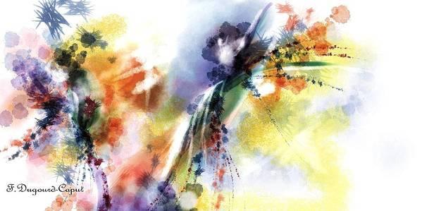 Digital Art Poster featuring the digital art Romance by Francoise Dugourd-Caput
