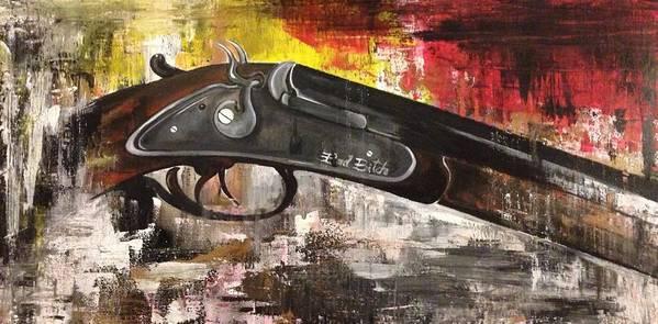 Shot Gun Poster featuring the painting Shot Gun by Adriana Sharpe