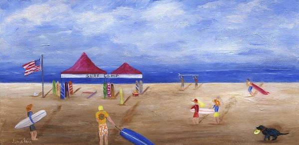 Sea Poster featuring the painting Surf Camp by Jamie Frier