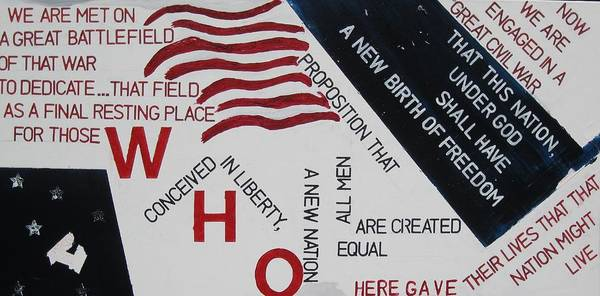 Flags Poster featuring the painting Those Who Gave Their Lives by Lawrence Dugan