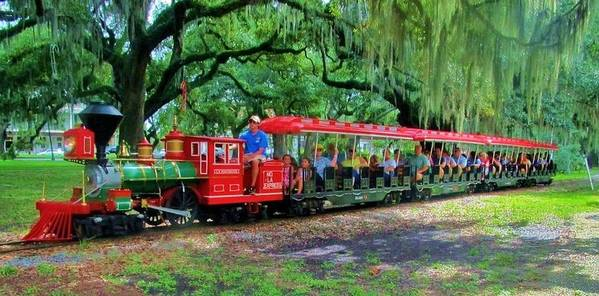 Train Poster featuring the photograph Train - New Orleans City Park by Deborah Lacoste