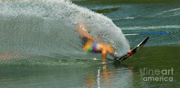 Water Skiing Poster featuring the photograph Water Skiing 5 Magic Of Water by Bob Christopher