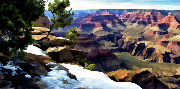 Landscape Poster featuring the digital art Grand Canyon by Patricia Stalter