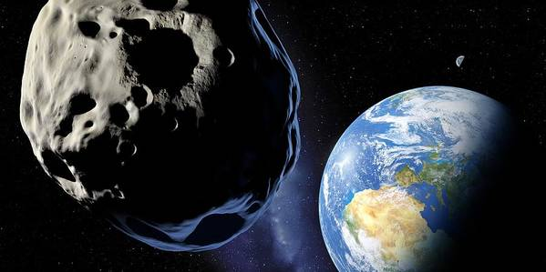 Earth Poster featuring the photograph Near-earth Asteroid, Artwork by Detlev Van Ravenswaay