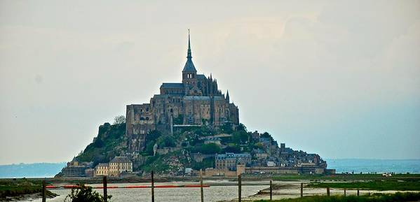 Mont St. Michel Poster featuring the photograph Medieval Wonder by Eric Tressler