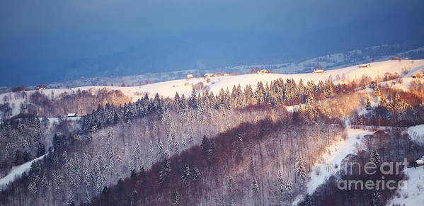 Piatra Craiului Poster featuring the photograph Mountain Landscape In Brasov County by Gabriela Insuratelu