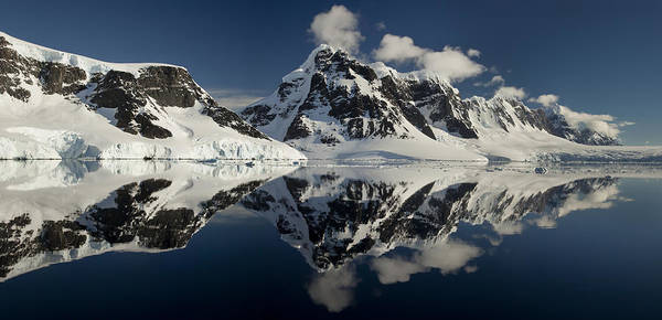 00479577 Poster featuring the photograph Peaks Along Neumayer Channel by Colin Monteath